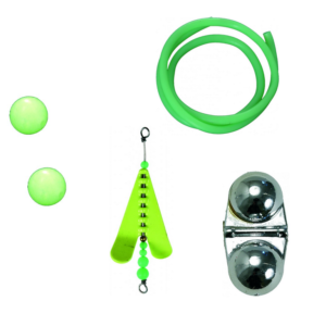 Fluo prvky, trubičky, vrtule a rolničky